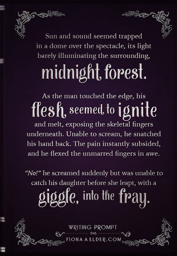 Writing Prompt : Midnight Forest Fray • Fiona A  Elder