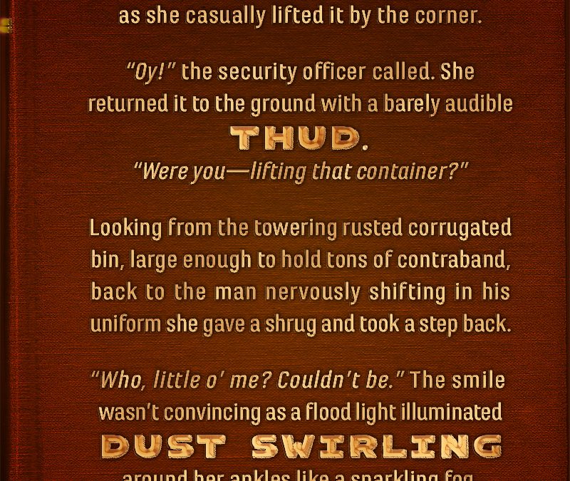 Writing Prompt: Dust Swirling Thud